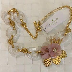 ✨NWT✨Kate Spade Slice of Stone Blush Necklace